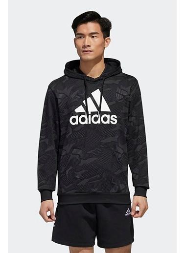 adidas Adidas Erkek Günlük Giyim Sweatshirt M E Aop Hdy Gd5489 Siyah